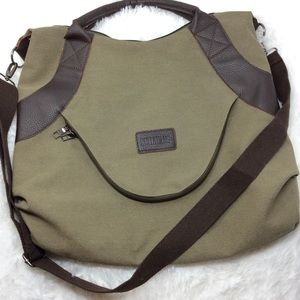 NWOT Ruyihuang Outback Bag Canvas & Leather